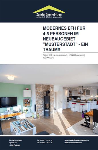 Immobilien Expose Vorlage Download