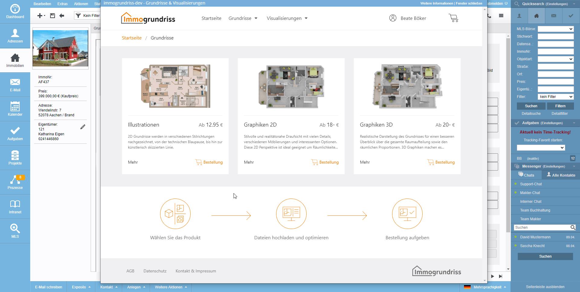 Screenshot onOffice Marketplace Immogrundriss