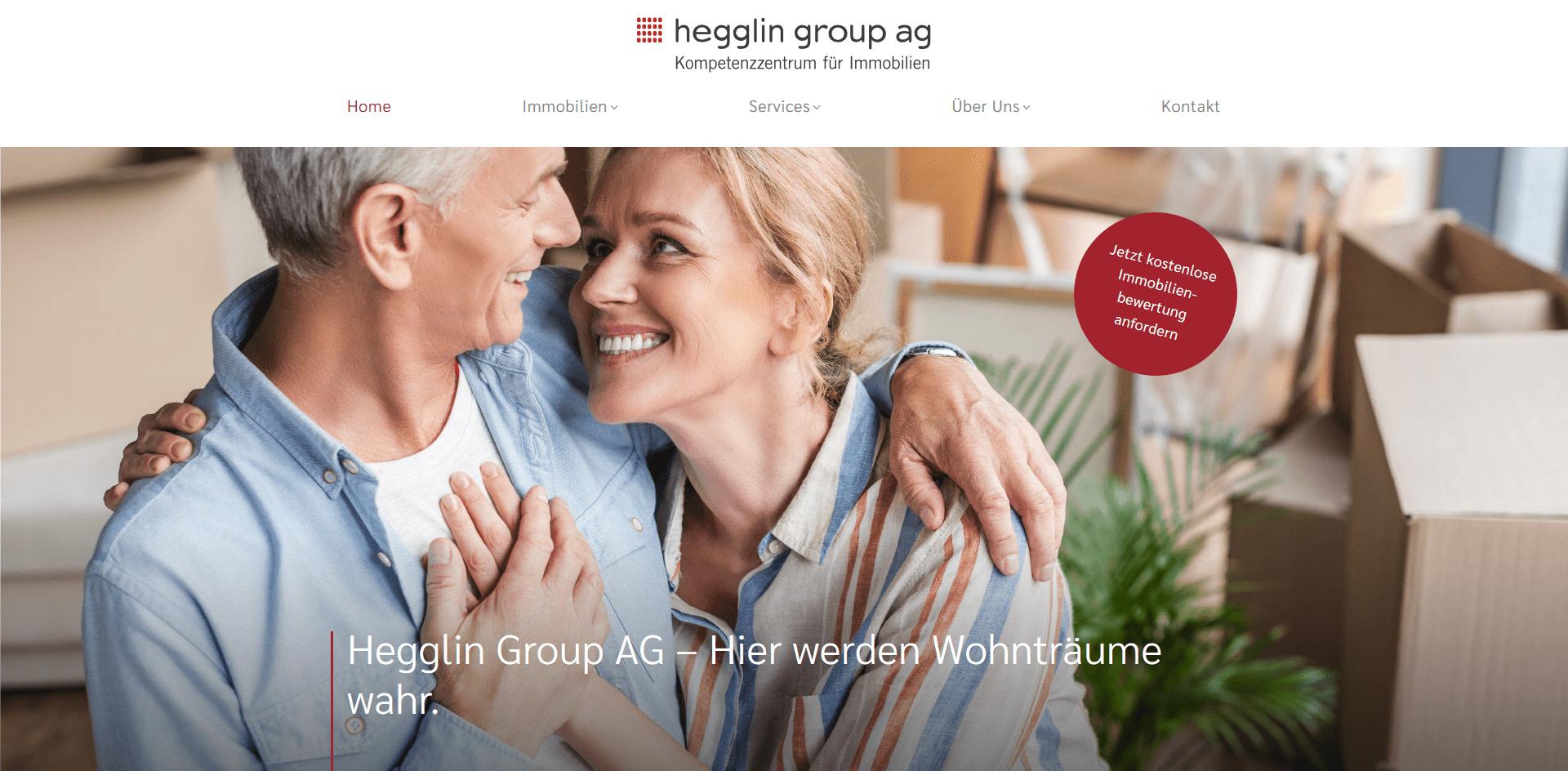 Screenshot Hegglin Group AG-Website
