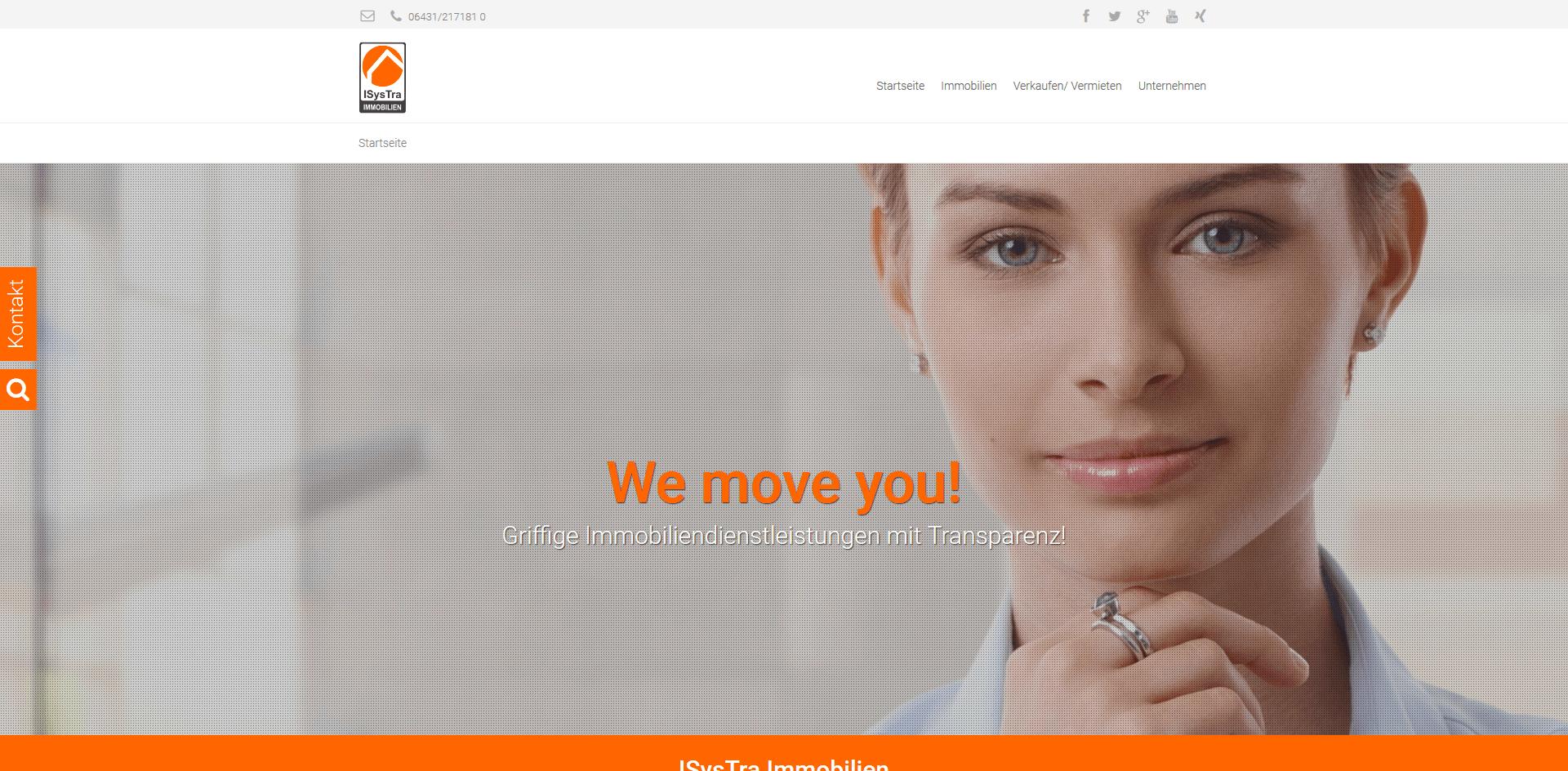 Screenshot ISysTra-IMMOBILIEN-Website