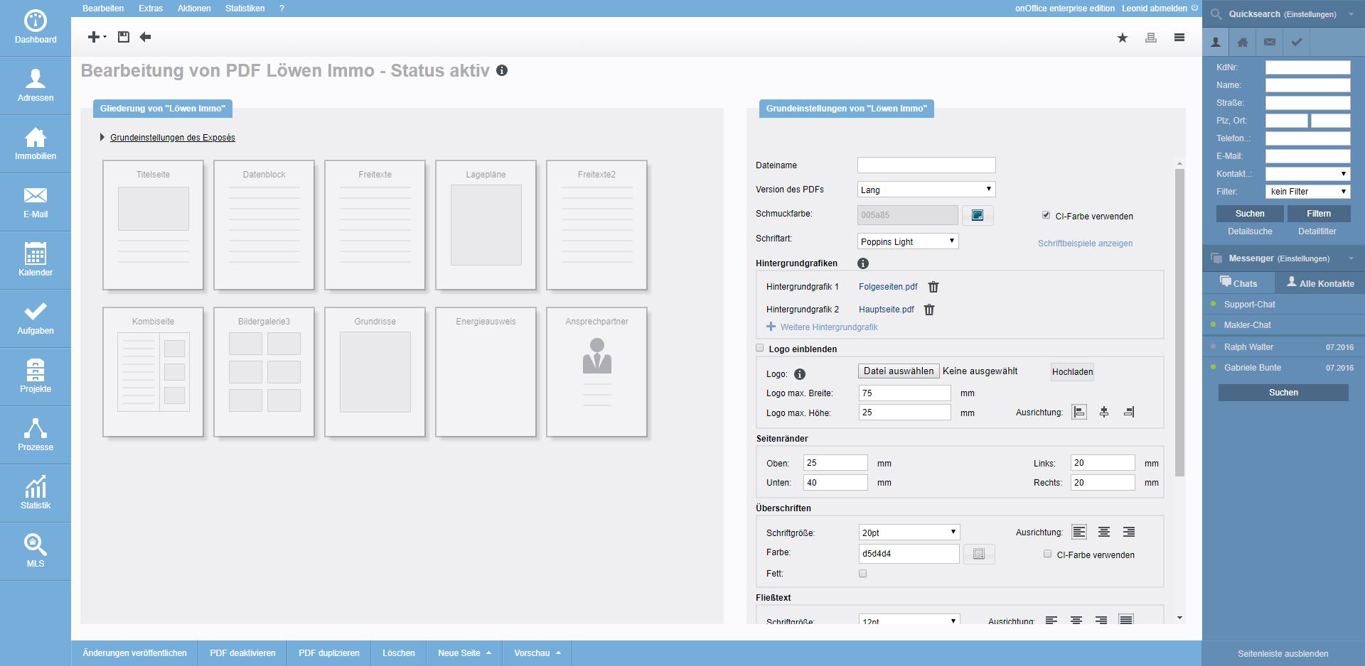 Screenshot PDFdesigner