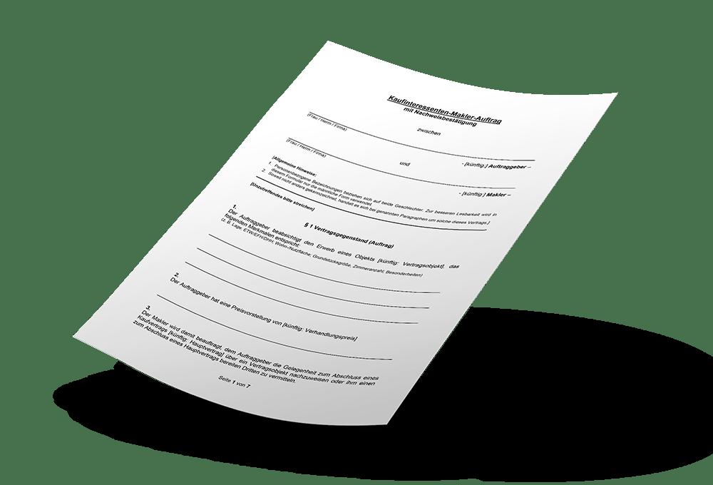 Vertragsvorlage Mockup