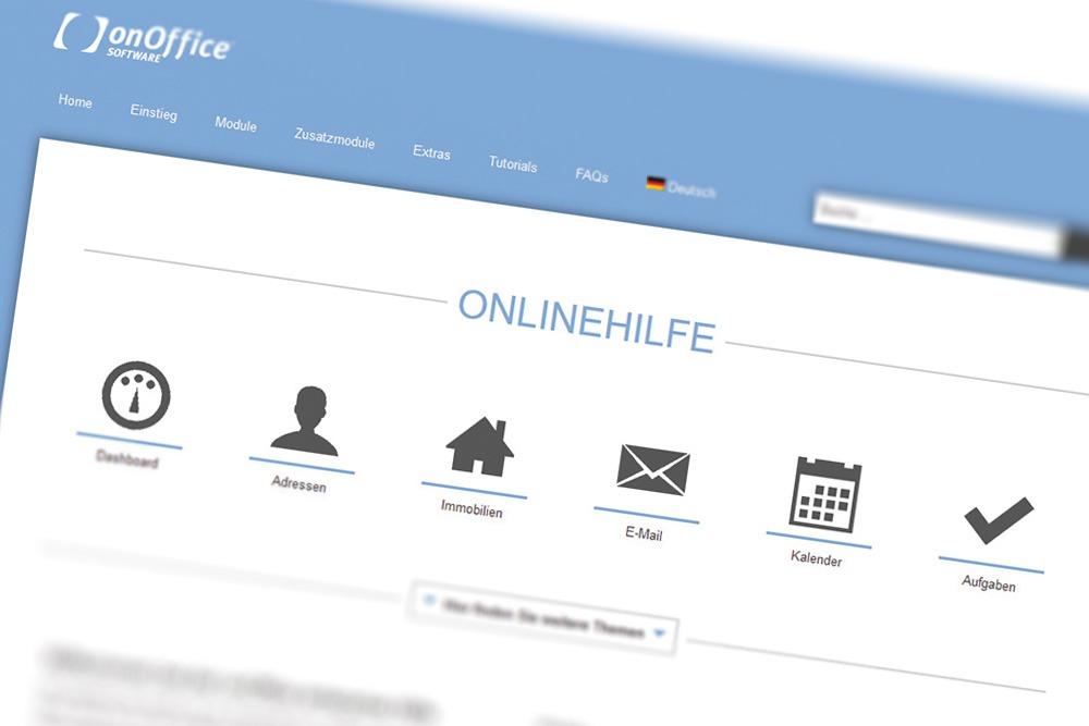 Screenshot onOffice enterprise Hilfe