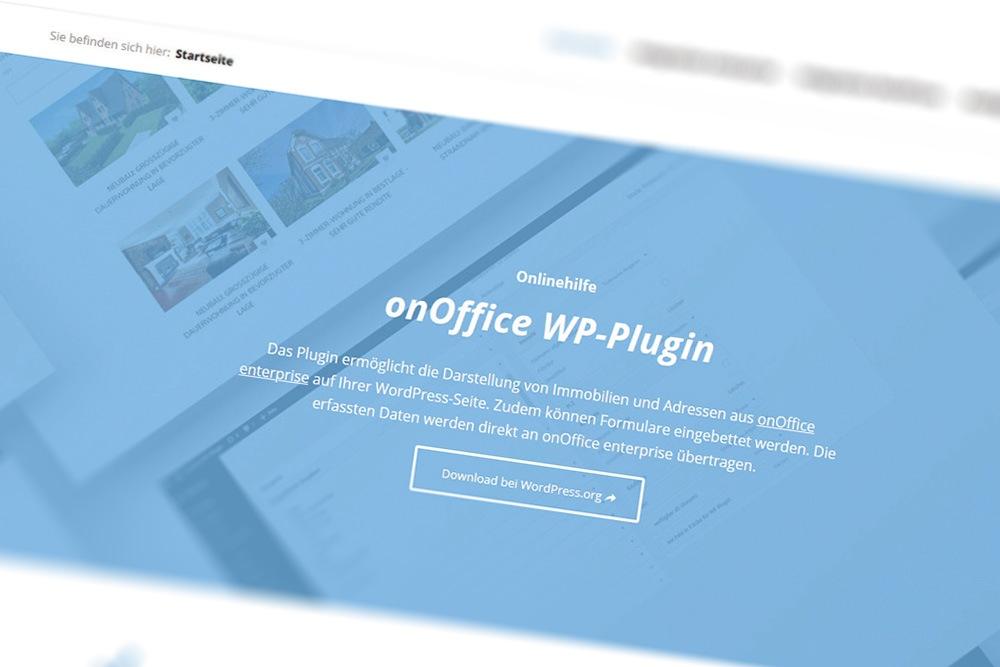 Screenshot onOffice WP-Plugin-Doc