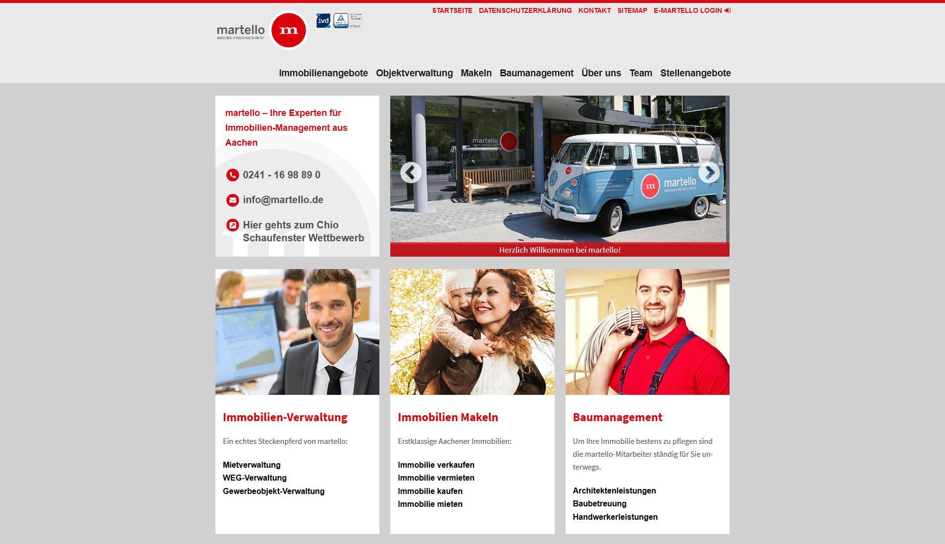 Screenshot Website Martello