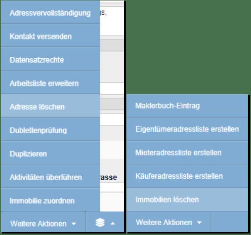 Menüeeintrag für Löschen umbenannt Screenshot