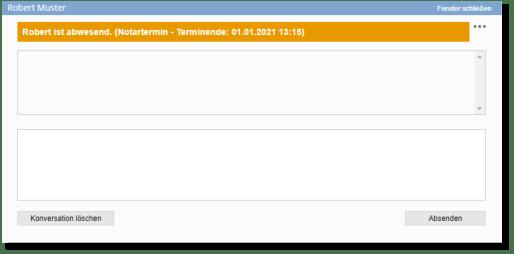 Messenger Abwesenheitsinformation Screenshot