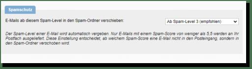 Spamschutz Screenshot