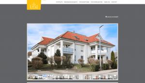Immobilien Ulm: Screenshot Website