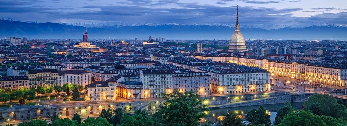 Blick über die Stadt Turin