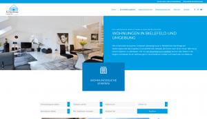 Am Buschkamp Immobilien: Screenshot Website