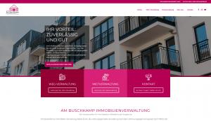 Am Buschkamp Immobilienverwaltung: Screenshot Website