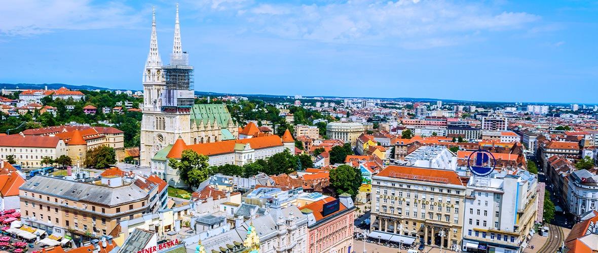 Blick über die Stadt Zagreb