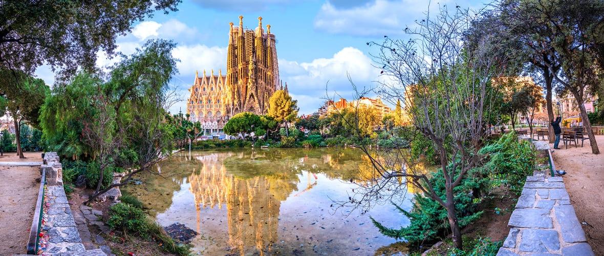 Blick auf die Sagrada Família in Barcelona